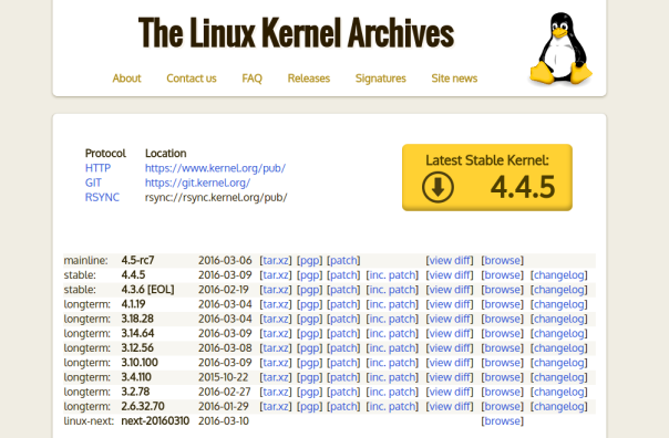 Linux-kernel.4.4.5-lts-rilasciato